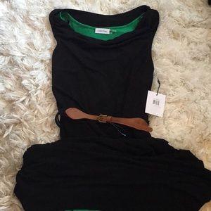 NWT Calvin Klein Maxi Hi/Lo Belted Dress SZ 6